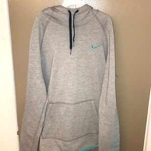 Grey & turquoise Nike Hoodie